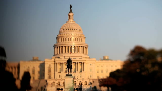 us capitol, washington dc (tilt shift lens) - capital cities stock videos & royalty-free footage