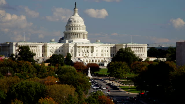 us capitol washington dc view from pennsylvania avenue - lobby stock videos & royalty-free footage