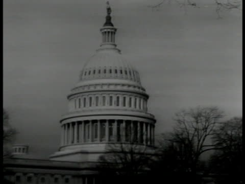 capitol washington dc vs cu newspaper headlines 'great debate hoover calls for us 'gibraltar' expresident herbert c hoover talking for nbc radio - herbert hoover us president stock videos & royalty-free footage