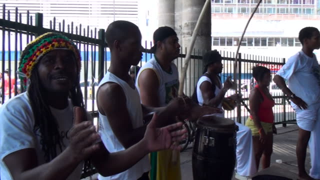 capoeira is a brazilian martial art that combines elements of dance acrobatics and music - bahia state stock videos and b-roll footage
