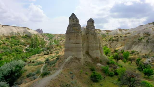 cappadocia city scenery / cappadocia, turkey - canyon stock videos & royalty-free footage