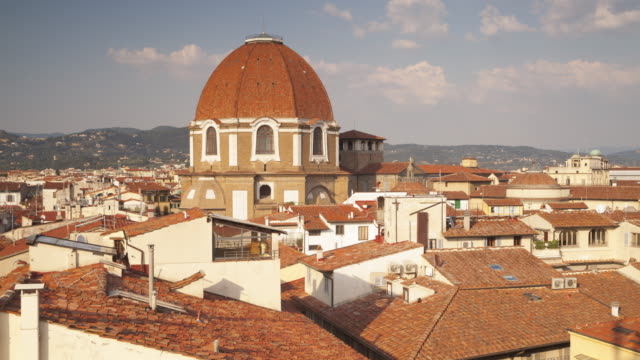 cappelle medicee or medici chapels in florence. - cupola video stock e b–roll