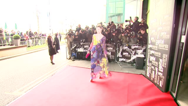 caprice at the capital awards at the riverbank park plaza hotel in london on march 20, 2008. - caprice bourret video stock e b–roll