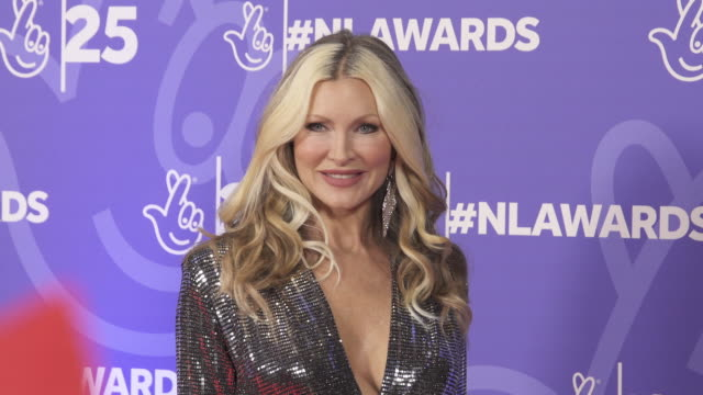 caprice at the national lottery awards on october 15, 2019 in london, england. - caprice bourret video stock e b–roll
