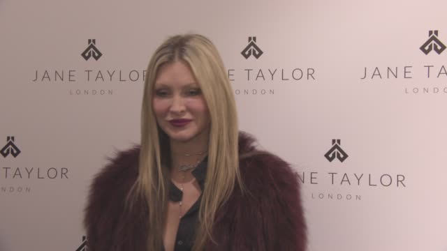 caprice bourret - at jane taylor millinery - store opening on december 01, 2015 in london, england. - caprice bourret video stock e b–roll