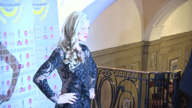 caprice bourret at national film awards at porchester hall on march 31, 2015 in london, england. - caprice bourret video stock e b–roll