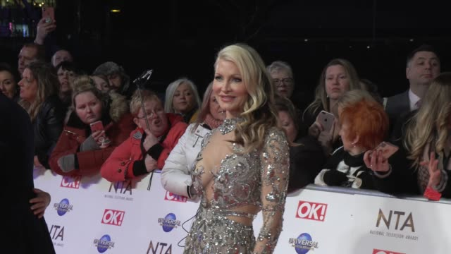 caprice bourret at the o2 arena on january 28, 2020 in london, england. - caprice bourret video stock e b–roll