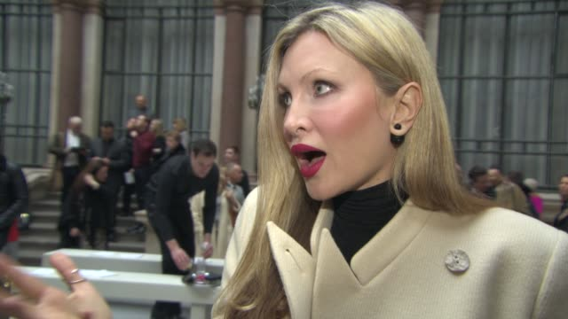 caprice bourret on the show, on julien macdonald's clothes at julien macdonald a/w 2015 at foreign & commonwealth office, king charles street,... - caprice bourret video stock e b–roll