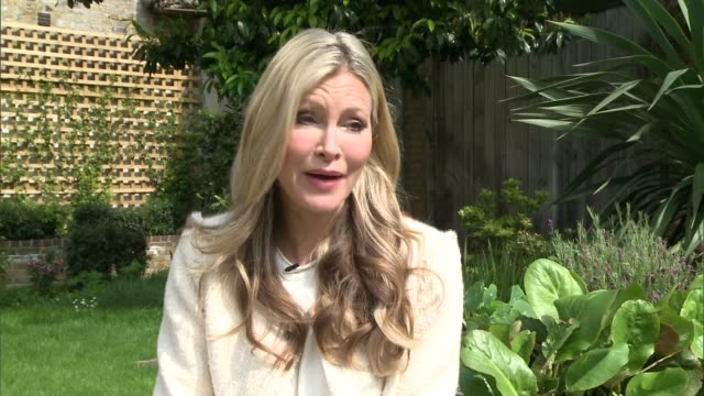 caprice donates 120000 pounds of own money to transform community garden caprice bourret interview sot roadworks around pavement in front of gardens... - itv london tonight weekend点の映像素材/bロール