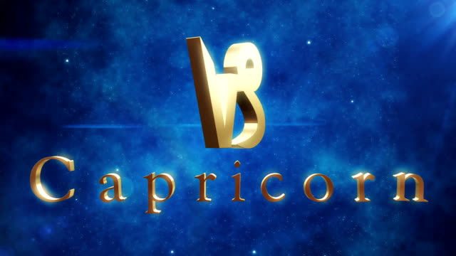 capricorn (zodiac air sign) | loopable - cancer astrology sign stock videos and b-roll footage
