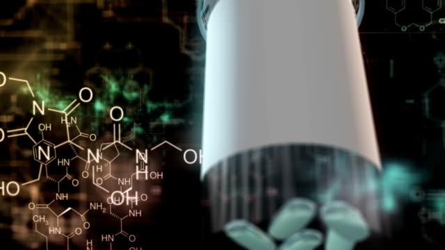 capsules medicine pills tecnology - pill stock videos & royalty-free footage