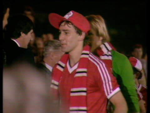 captain bryan robson receives trophy from princess michael of kent brighton and hove albion vs manchester united 1983 fa cup final replay wembley... - princess michael of kent stock videos and b-roll footage