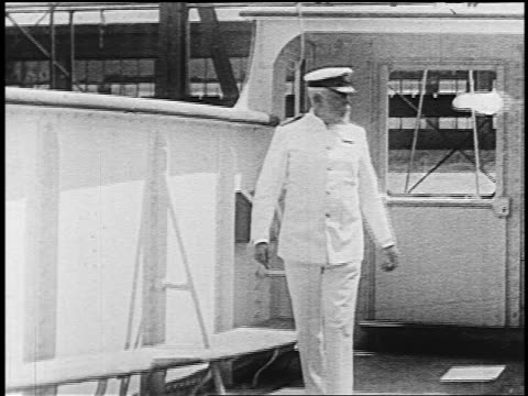 captain edward smith in dress uniform inspecting deck of ship - team captain stock videos & royalty-free footage