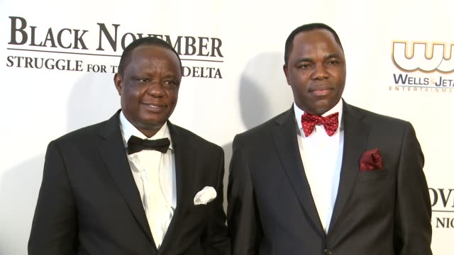 captain hosa wells and sir lucky omoluwa at black november screening in washington dc at the john f kennedy center for performing arts on may 08 2012... - john f. kennedy center for the performing arts stock videos and b-roll footage