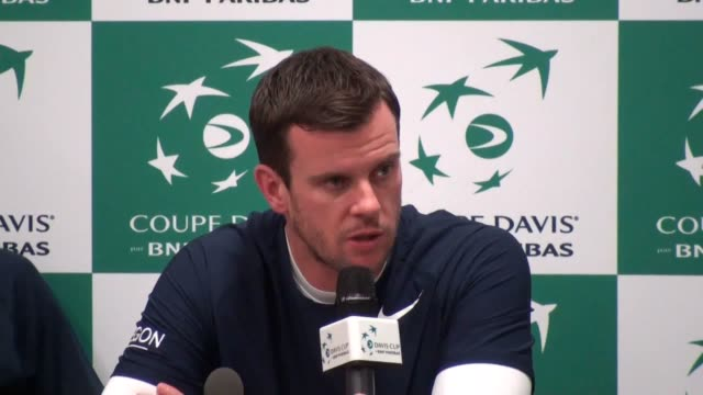 stockvideo's en b-roll-footage met captain leon smith and jamie murray speak after great britain crash out of the davis cup after a 30 quarterfinal defeat by france it is the first... - wereldkampioenschap sport