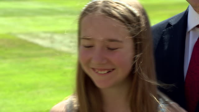 captain tom moore's granddaughter georgia ingrammoore saying she is speechless being at windsor castle as he receives his knighthood - surprise stock videos & royalty-free footage