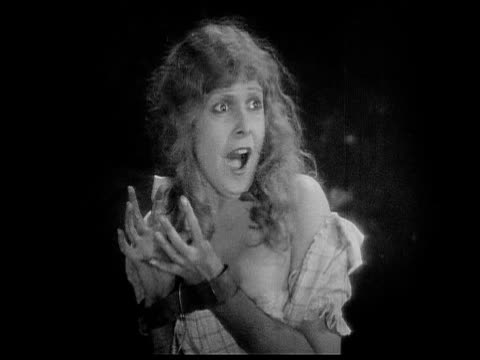1926 b/w ms captive woman (charlotte stevens) screaming / usa - 1926 stock videos & royalty-free footage