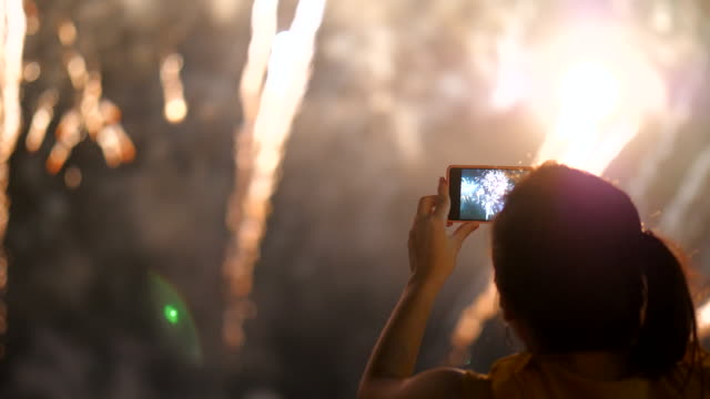capture happiness moment - firework display stock videos & royalty-free footage