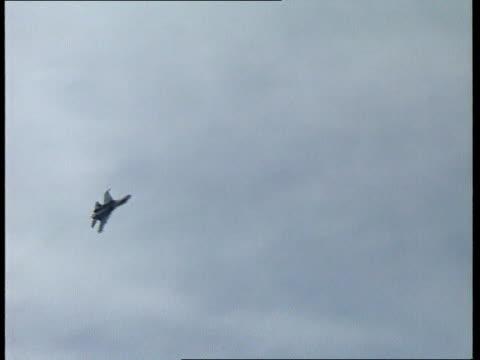 Capture of British spy announced CR3028 / TX Farnborough Sukhoi flying LR overhead ** Witt interview overlaid SOT **