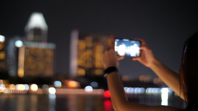 capture photo of the city light - singapore stock videos & royalty-free footage