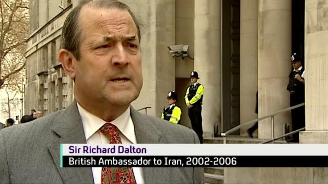diplomacy england london sir richard dalton interview sot - diplomacy stock videos & royalty-free footage