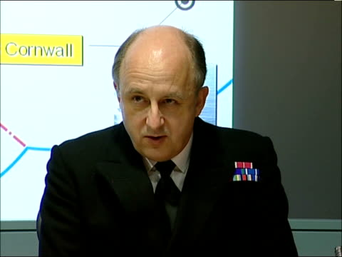 Vice Admiral Charles Style press conference ENGLAND London Ministry of Defence INT Vice Admiral Charles Style press conference SOT the aim of this...