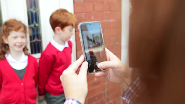 capturing life events - first day of school stock videos & royalty-free footage