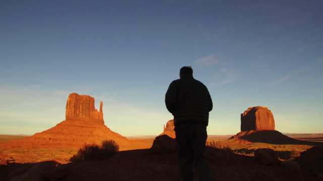 Capturing sunrise at Monument Valley
