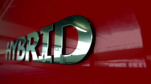 vídeos y material grabado en eventos de stock de de tarjeta serie coche híbrido - coche híbrido