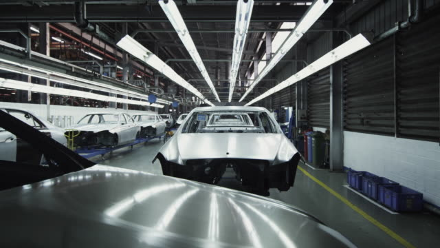 ws car bodies in factory / samut prakan, bang muang mai, thailand - fluorescent light stock videos and b-roll footage