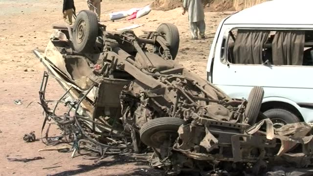 a car bomb hits a pakistani refugee camp killing 13 people including women and children and raising further fears for the security of a may general... - multan stock videos and b-roll footage