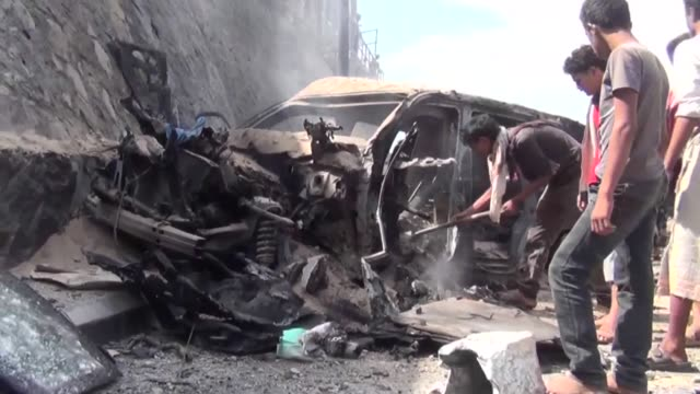 car bombing claimed by the islamic state group sunday killed the governor of yemens second city aden a day after the uns envoy visited to press for... - aden stock videos & royalty-free footage
