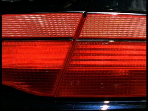 car brake lights flash on and off - tail light stock videos & royalty-free footage