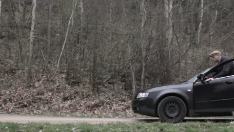 car breakdown - pushing stock videos & royalty-free footage
