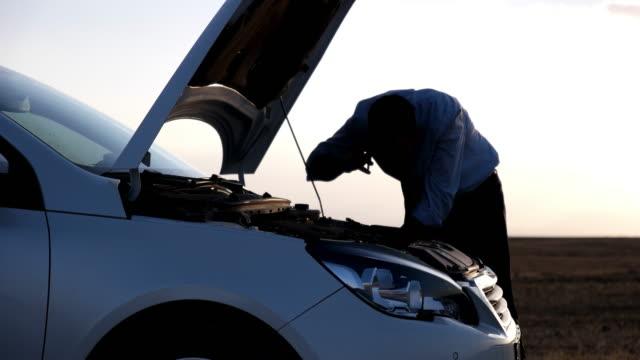 car breakdown - roadside stock videos & royalty-free footage