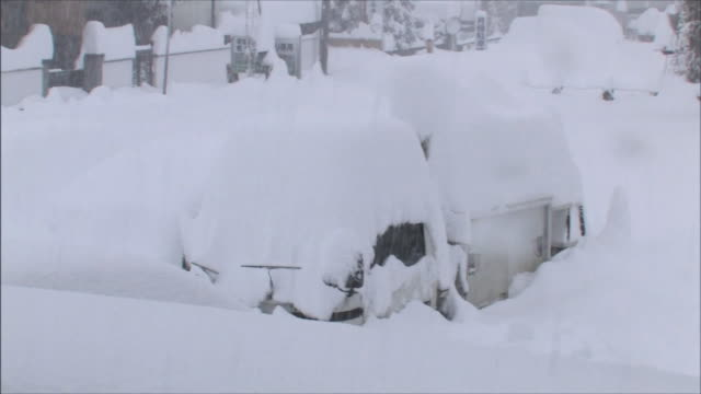 Car buried in the snow