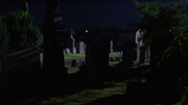 MS PAN Car chasing through cemetery