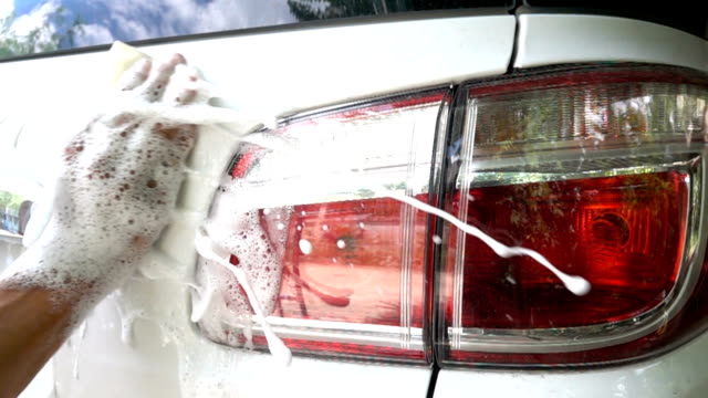 car cleaning foam splashingin slow motion - laundry detergent stock videos and b-roll footage