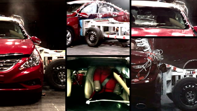 car crash test - scientific experiment stock videos & royalty-free footage
