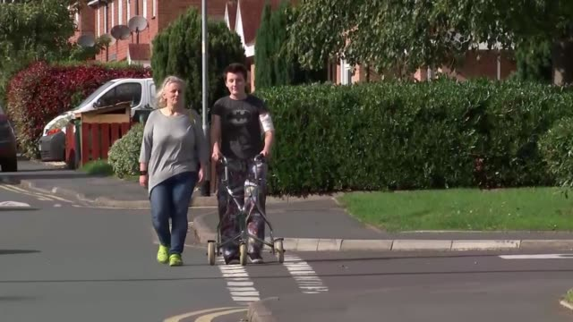 car crash victim's life saved after toe twitches as doctors prepare to switch off life support; england: herefordshire: ext sam hemming along road... - herefordshire bildbanksvideor och videomaterial från bakom kulisserna