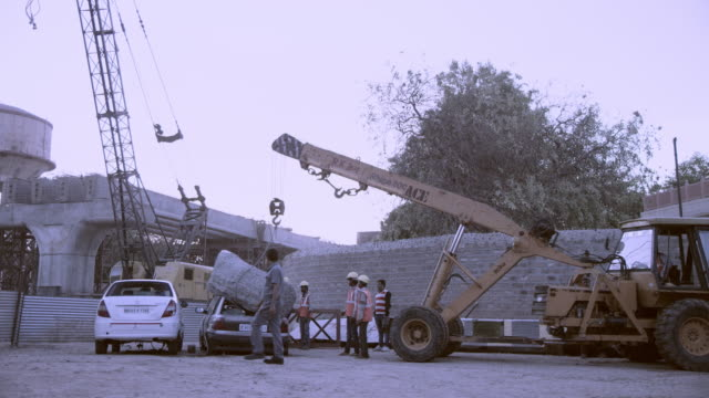 car crashed by rock - crane stock videos & royalty-free footage