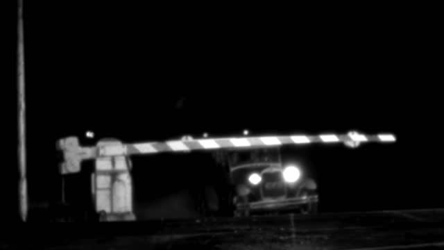 a car crashes through railroad crossing arms. - 1937 stock videos & royalty-free footage