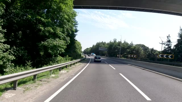 4k pov car crossing under humber bridge in summer minimal to no traffic, kingston upon hull, united kingdom - 1 minute or greater stock videos & royalty-free footage