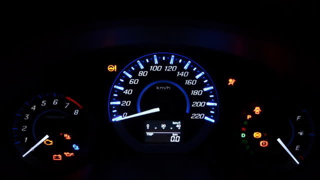 car dashboard at night - dashboard vehicle part stock videos and b-roll footage