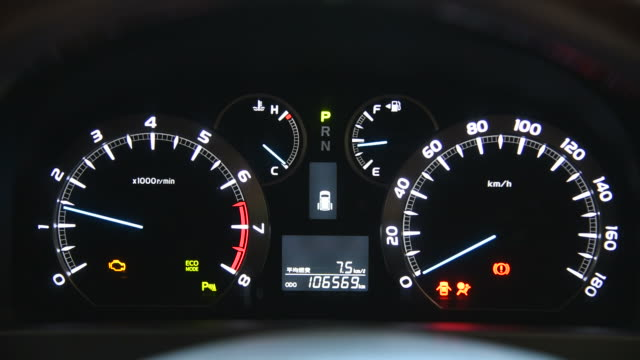 hd: car dashboard glowing - dashboard vehicle part stock videos and b-roll footage