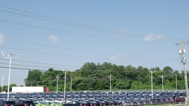 car dealership and traffic in usa - showroom stock videos and b-roll footage