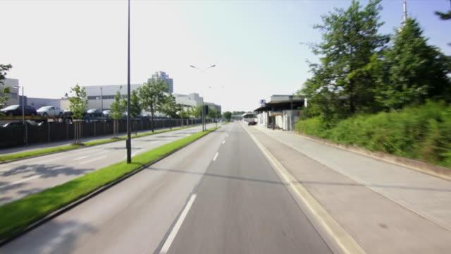 POV Car drive Through Munich
