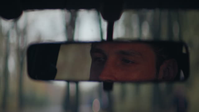 car driver falls asleep - rear view mirror stock videos and b-roll footage