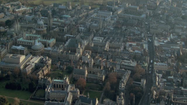 a car drives through oxford, england. - oxfordshire stock videos & royalty-free footage