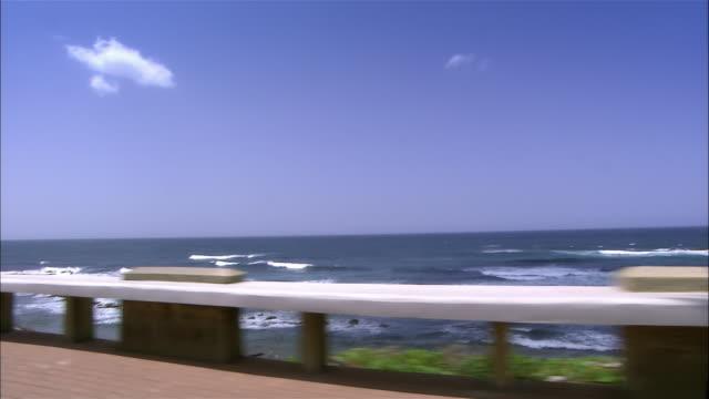 stockvideo's en b-roll-footage met side pov car driving along beach, san juan, puerto rico - waaierpalm